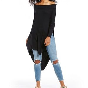 Free People Off the Shoulder Asymmetrical Top
